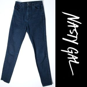 Nasty Gal Denim Jeans High Waisted Skinny Jeans 27